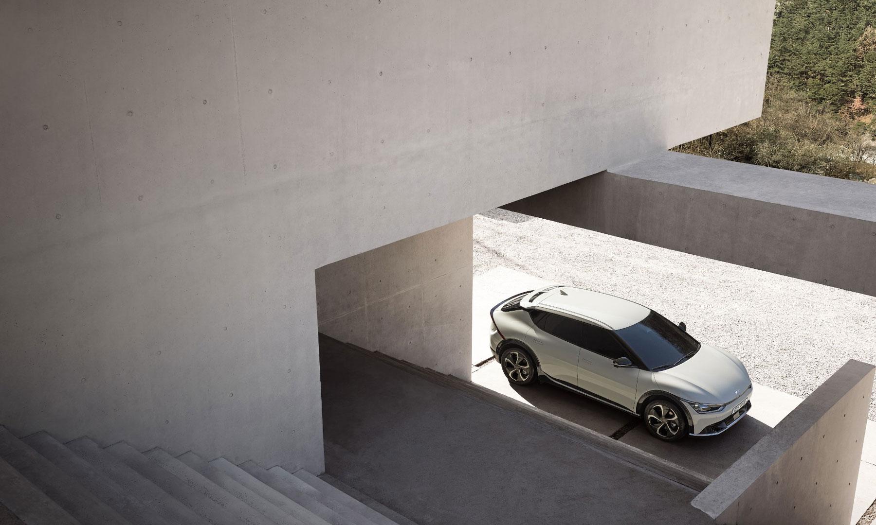 Der KIA EV6, Weltpremiere, KIA verkauft umweltfreundliche Elektroautos.