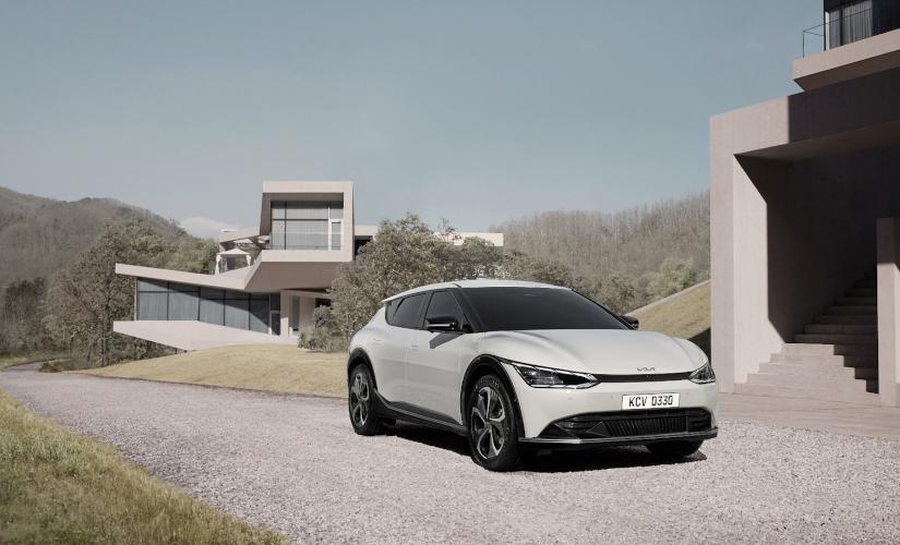 Der KIA EV6, Weltpremiere, KIA entwickelt umweltfreundliche Elektroautos.