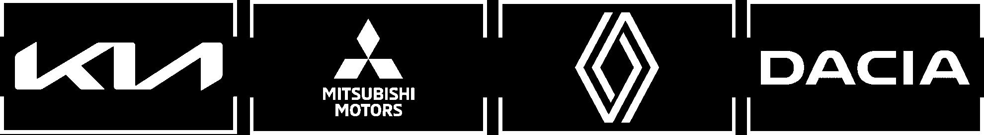 CC Nova Ag Partner Logos von KIA Mitsubishi Renault und Dacia in weiss